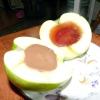 Яблука з шоколадом і желе