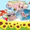 На дачі у бабусі діти-цукерки сміються, граються, регочуть від щастя!