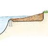 Оформлення берегової лінії ставка