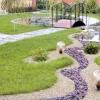 Дерев'яні, гравійні і кам'яні садові доріжки