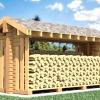 Як побудувати дровянік на дачі