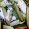 Огірки, консервовані шматочками