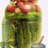 Огірки солоні з брусницею, з агрусом