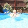 Освітлюється воду в басейні.