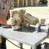 Саморобні дроворуби з домкрата і з бензиновим двигуном