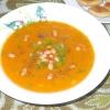 Гарбузовий суп-пюре з квасолею