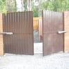 Ворота на дачу з профнастилу своїми руками