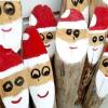 Новорічні вироби з дров: стіс ідей
