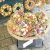 Оригінальні букети на квітковому ринку Кракова